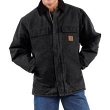 Carhartt Sandstone Arctic Work Coat - Quilt-Lined (For Big Men) in Black - 2nds