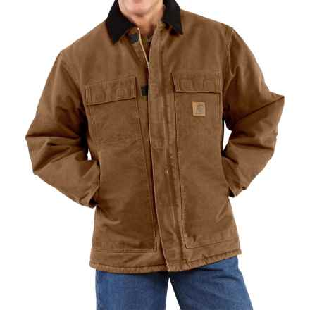 Carhartt Sandstone Arctic Work Coat - Quilt-Lined (For Big Men) in Carhartt Brown - 2nds