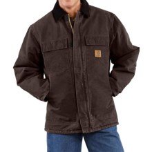Carhartt Sandstone Arctic Work Coat - Quilt-Lined (For Big Men) in Dark Brown - 2nds