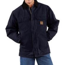 Carhartt Sandstone Arctic Work Coat - Quilt-Lined (For Big Men) in Midnight - 2nds