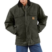 Carhartt Sandstone Arctic Work Coat - Quilt-Lined (For Big Men) in Moss - 2nds