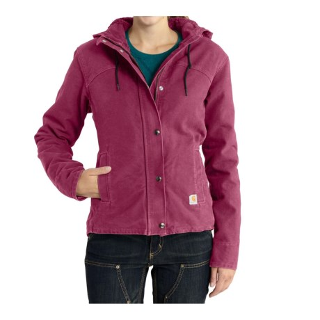Carhartt Sandstone Berkley Jacket - Sherpa Lined, Factory Seconds (For Women) in Raspberry