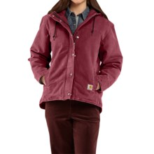 Carhartt Sandstone Berkley Jacket - Sherpa-Lined (For Women) in Cinnamon Red - 2nds