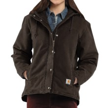 Carhartt Sandstone Berkley Jacket - Sherpa-Lined (For Women) in Dark Brown - 2nds