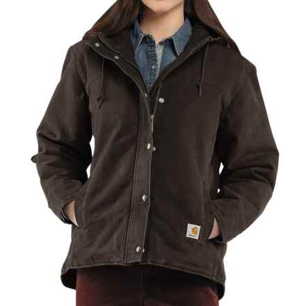 Carhartt Sandstone Berkley Jacket - Sherpa-Lined (For Women) in Dark Brown - 2nds