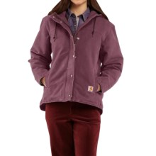 Carhartt Sandstone Berkley Jacket - Sherpa-Lined (For Women) in Dusty Plum - 2nds