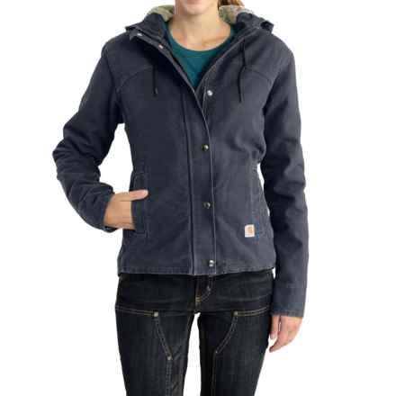 Carhartt Sandstone Berkley Jacket - Sherpa-Lined (For Women) in Hudson Blue - 2nds