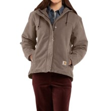 Carhartt Sandstone Berkley Jacket - Sherpa-Lined (For Women) in Taupe Grey - 2nds