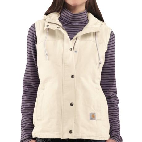 Carhartt Sandstone Berkley Vest II - Sherpa-Lined (For Women) in Birch