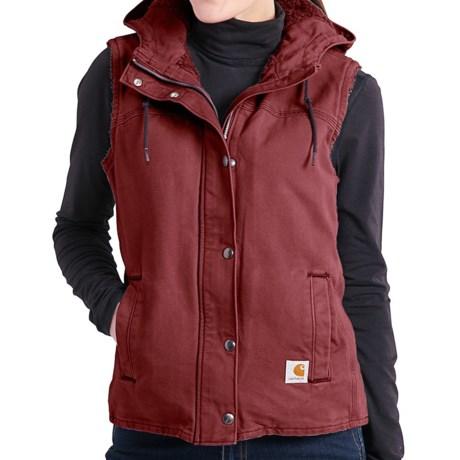 Carhartt Sandstone Berkley Vest II - Sherpa-Lined (For Women) in Cinnamon Red