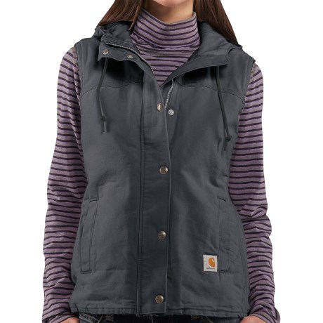 Carhartt Sandstone Berkley Vest II - Sherpa-Lined (For Women) in Coal