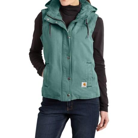 Carhartt Sandstone Berkley Vest II - Sherpa-Lined (For Women) in Coastline