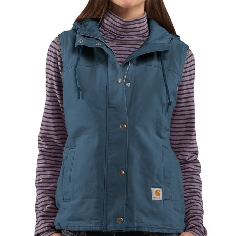 Carhartt Sandstone Berkley Vest II - Sherpa-Lined (For Women) in Empire Blue