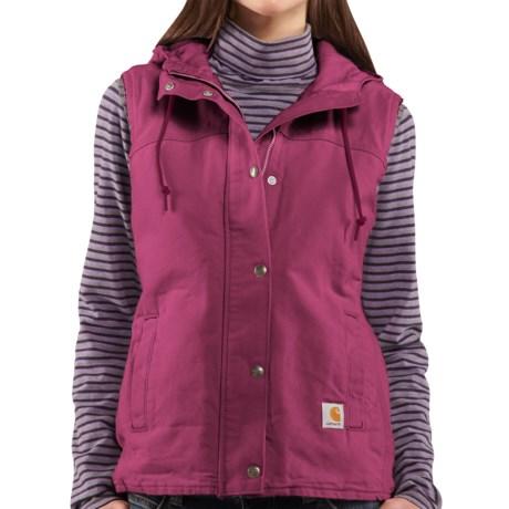 Carhartt Sandstone Berkley Vest II - Sherpa-Lined (For Women) in Merlot