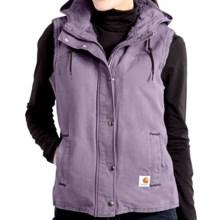Carhartt Sandstone Berkley Vest II - Sherpa-Lined (For Women) in Purple Sage - 2nds