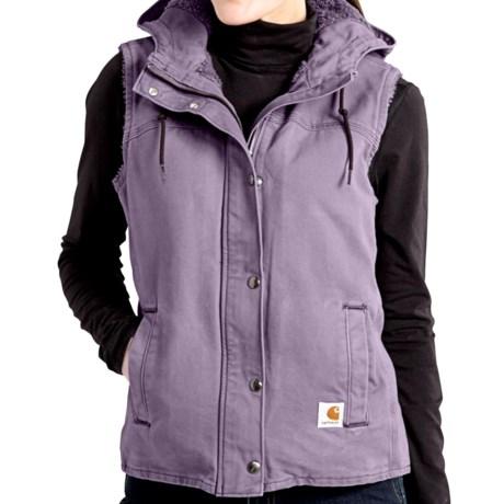 Carhartt Sandstone Berkley Vest II - Sherpa-Lined (For Women) in Purple Sage