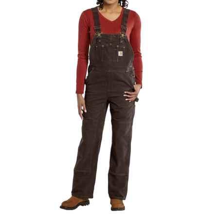 Carhartt Sandstone Bib Overalls - Unlined, Factory Seconds (For Women) in Dark Brown - 2nds