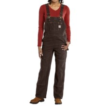 Carhartt Sandstone Bib Overalls - Unlined (For Women) in Dark Brown - 2nds