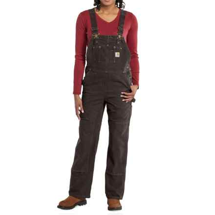 Carhartt Sandstone Bib Overalls - Unlined (For Women) in Dark Brown - Closeouts
