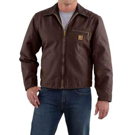 Carhartt Sandstone Detroit Jacket - Blanket Lined, Factory Seconds (For Big Men) in Dark Brown - 2nds