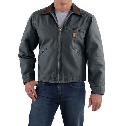 Carhartt Sandstone Detroit Jacket - Blanket Lined, Factory Seconds (For Big Men) in Gravel - 2nds