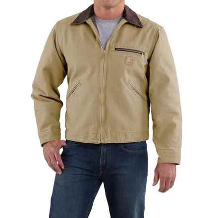 Carhartt Sandstone Detroit Jacket - Blanket Lined, Factory Seconds (For Big Men) in Worn Brown - 2nds