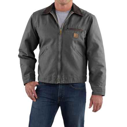 Carhartt Sandstone Detroit Jacket - Blanket Lined, Factory Seconds (For Tall Men) in Gravel - 2nds
