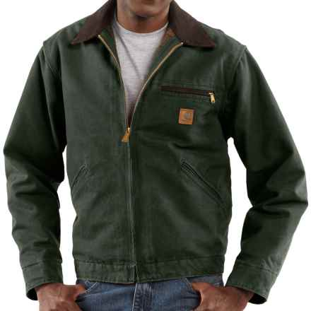 Carhartt Sandstone Detroit Jacket - Blanket Lined, Factory Seconds (For Tall Men) in Moss - 2nds