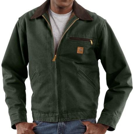 Carhartt Sandstone Detroit Jacket - Blanket Lined, Factory Seconds (For Tall Men)