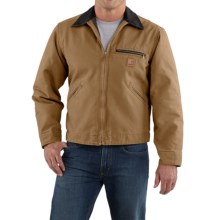 Carhartt Sandstone Detroit Jacket - Blanket-Lined (For Tall Men) in Frontier Brown - 2nds