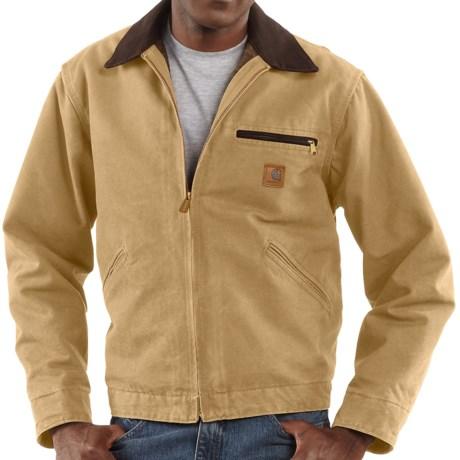 Carhartt Sandstone Detroit Jacket - Blanket-Lined (For Tall Men) in Worn Brown