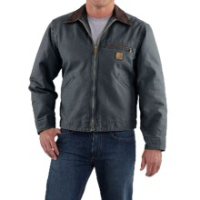 Carhartt Sandstone Detroit Jacket - Blanket Lining (For Big Men) in Gravel - 2nds