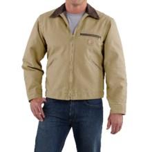 Carhartt Sandstone Detroit Jacket - Blanket Lining (For Big Men) in Worn Brown - 2nds
