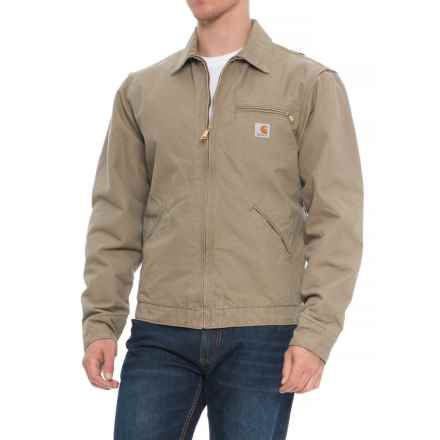 Carhartt Sandstone Detroit Jacket - Factory 2nds (For Men) in Cotton Wood - 2nds