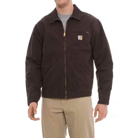 Carhartt Sandstone Detroit Jacket - Factory 2nds (For Men) in Dark Brown - 2nds