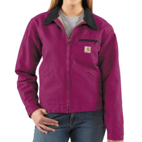 Carhartt Sandstone Detroit Jacket  (For Women) in Raspberry