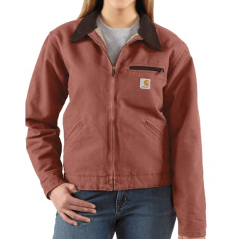 Carhartt Sandstone Detroit Jacket  (For Women) in Vintage Rose