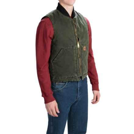 Carhartt Sandstone Duck Vest - Insulated, Factory Seconds (For Men) in Moss - 2nds