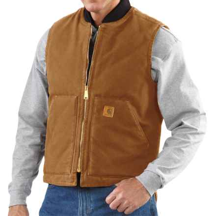 Carhartt Sandstone Duck Vest - Insulated (For Men) in Carhartt Brown - 2nds