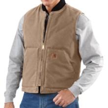 Carhartt Sandstone Duck Vest - Insulated (For Men) in Cottonwood - 2nds