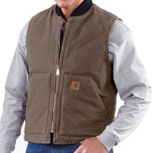 Carhartt Sandstone Duck Vest - Insulated (For Men) in Light Brown - 2nds