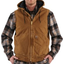 Carhartt Sandstone Hooded Active Vest - Insulated (For Tall Men) in Carhartt Brown - 2nds