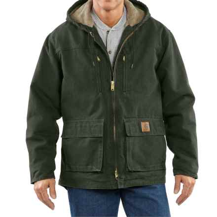 Carhartt Sandstone Jackson Coat - Sherpa Lined, Factory Seconds (For Big Men) in Moss - 2nds