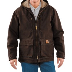 Carhartt Sandstone Jackson Coat - Sherpa Lined (For Men)  in Black