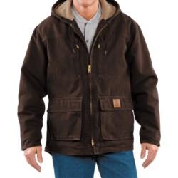 Carhartt Sandstone Jackson Coat - Sherpa Lined (For Men)  in Dark Brown
