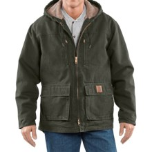 Carhartt Sandstone Jackson Coat - Sherpa Lined (For Men)  in Moss - 2nds