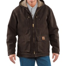 Carhartt Sandstone Jackson Jacket - Sherpa Lined (For Tall Men)  in Dark Brown - 2nds