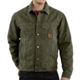 Carhartt Sandstone Jean Jacket - Sherpa Lined (For Men)