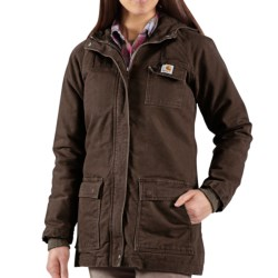 Carhartt Sandstone Kenai Parka - Sherpa-Lined (For Women) in Dark Brown