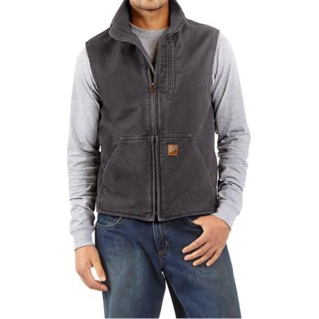 Carhartt Sandstone Mock Neck Vest - Sherpa Lining (For Tall Men) thumbnail